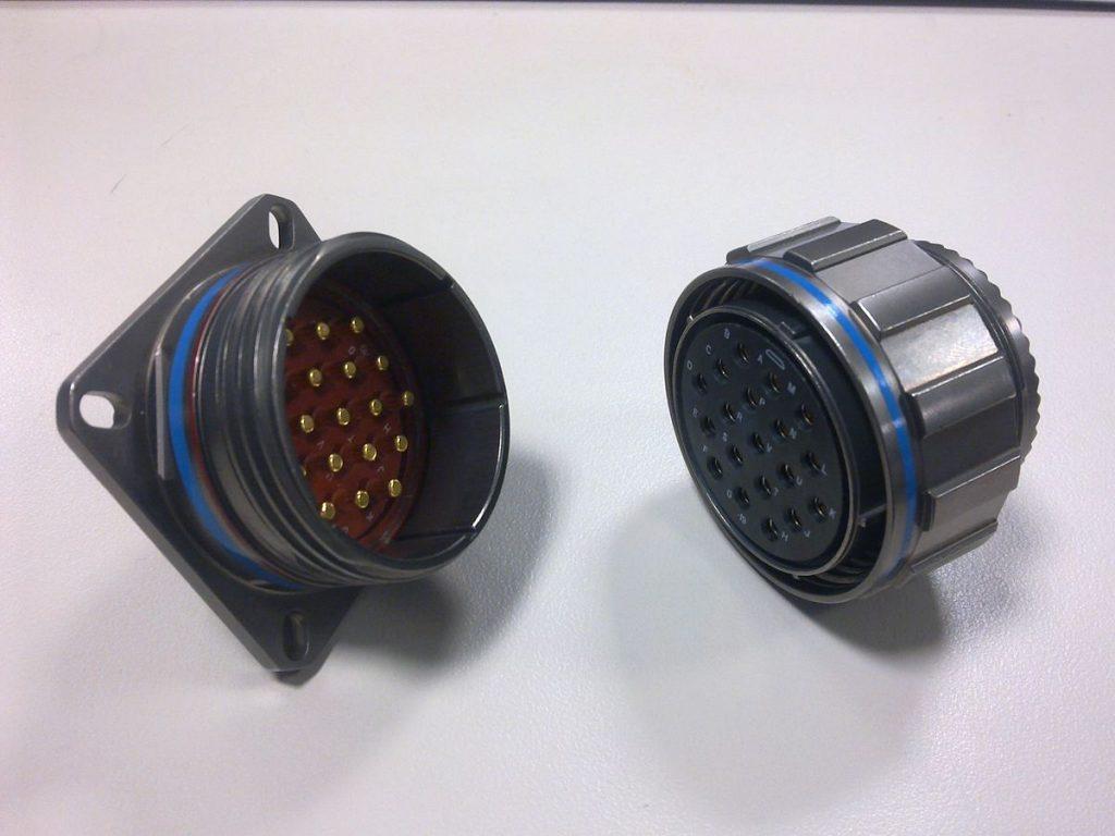 MIL-DTL-38999 circular connectors.